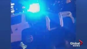Kelowna RCMP taser alleged drunk driver (00:43)