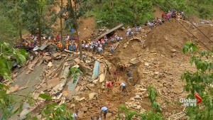 Retrieval efforts underway for trapped people in northern Philippines landslide