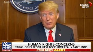 Trump calls Kim Jong Un 'tough guy'  when asked about North Korea's human rights abuses