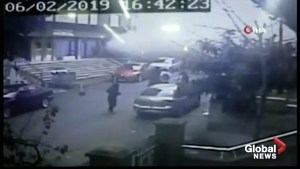 CCTV footage shows moment building collapses in Istanbul