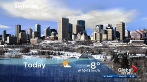 Edmonton early morning weather forecast: Thursday, February 15, 2018