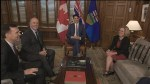 Trudeau, Horgan and Notley talk pipeline politics in Ottawa