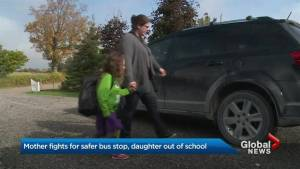 Scugog mother fights 'unsafe' school-bus stop location, refuses to drive daughter to school