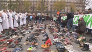Protesters in Paris for climate change summit