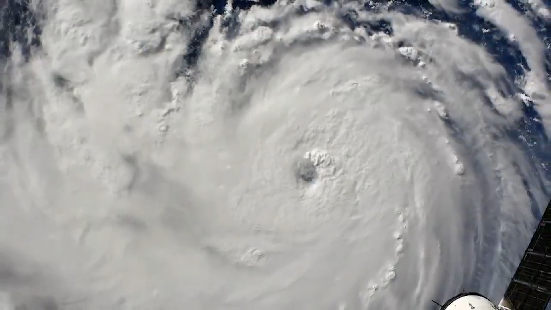 NASA showed how it looks from space a hurricane