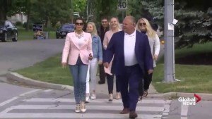 Ontario PC Leader Doug Ford comes to vote in 2018 Ontario election
