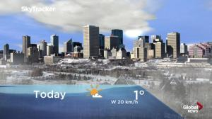 Edmonton early morning weather forecast: Monday, January 14, 2019