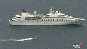Cruise ship originating from Montreal disabled near Cape Cod, MA