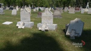 Saskatoon's Woodlawn Cemetery targeted in act of vandalism that smashed headstones