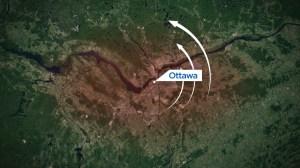 Path of Ottawa-Gatineau tornadoes