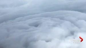 Hurricane Hunters capture amazing video from inside Irma's eye