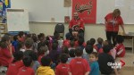 Calgary Flames captain Mark Giordano assists local school programs