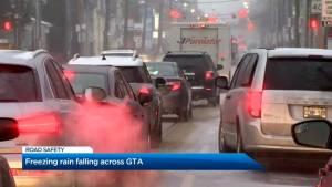 Freezing rain, slippery roads perfect formula for treacherous driving across GTA