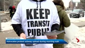 Protest over Provinces plan to taking over TTC's subway system