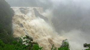 Record torrential rain floods Australia's Barron Falls