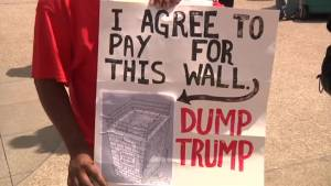 Anti-Trump protesters march through Cleveland