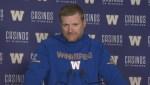 RAW: Blue Bombers Mike O'Shea On Facing Alouettes
