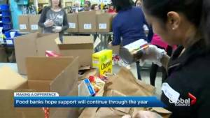 Toronto food banks hope giving spirit will extend outside holiday season
