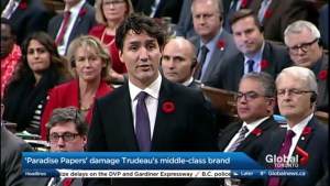 The 'Paradise Papers' and it's effect on the Trudeau's Liberals middle-class brand