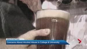 Concerns about alcohol abuse in college and university