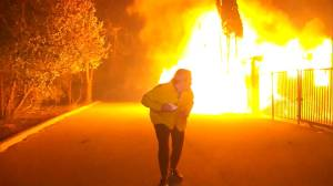 Explosions rock reporter during wildfire coverage