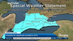 Special winter weather statement issued for southern Ontario