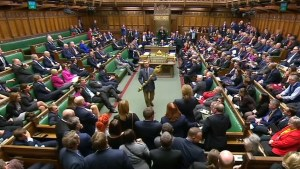 Video shows MP seize ceremonial mace during Brexit debate and attempt to leave parliament