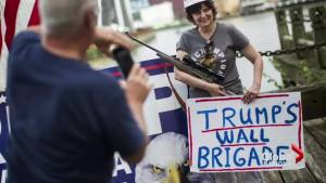 Gun owners take advantage of open carry law as Republican National convention gets underway
