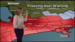 Freezing rain warning in effect