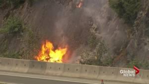 Fire crews fight West Vancouver blaze