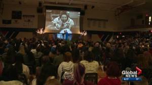 NASA astronaut visits Edmonton students