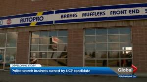UCP candidate issues statement after RCMP raid on his business
