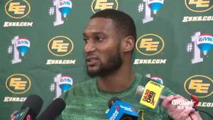 Eskimos slotback Adarius Bowman attends Edmonton vigil paying tribute to Quebec mosque shooting victims