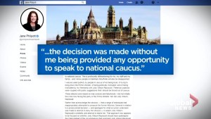 Constituents react to Jane Philpott removal from Liberal caucus