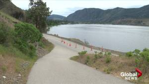 Eastside Road closed south of Penticton due to slide (01:06)