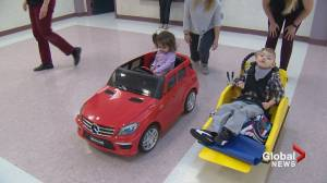 'It's just beautiful!': Calgary kids with disabilities enjoy 'Go Baby Go' program (01:54)
