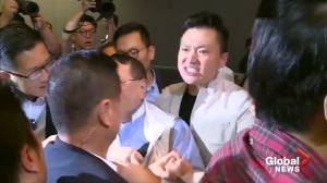 Scuffles break out in Hong Kong's legislature
