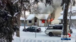 Explosion knocks Westwood home's door off