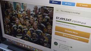 Humboldt GoFundMe now the largest in Canada