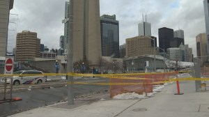 Falling ice shuts down area surrounding CN Tower again as 3 sporting events take place nearby