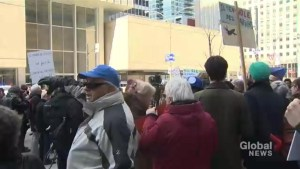 Bombardier protests continue in Montreal