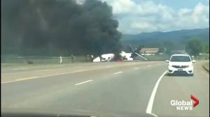 Dramatic video captures Earnhardt's escaping fiery plane crash