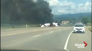 8be29e315 Former NASCAR driver Earnhardt Jr. safe after plane crash in ...