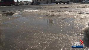 Big melt leading to localized flooding in Calgary