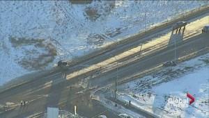 Crash in northeast Edmonton closes road