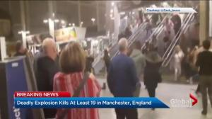 Deadly explosion kills at least 19 in Manchester, England