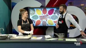 Café Linnea makes Eggs Benedict in the Global Edmonton kitchen (1/3)
