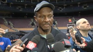 Former Toronto Raptors head coach Dwane Casey happy to back back in the #6ix