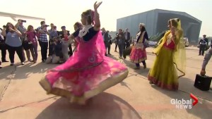 Trudeau family welcomed to Agra with traditional Indian dance