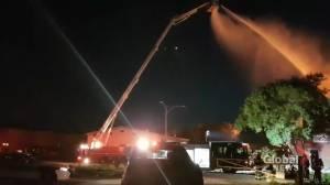 Fire on Jarvis Avenue in Winnipeg